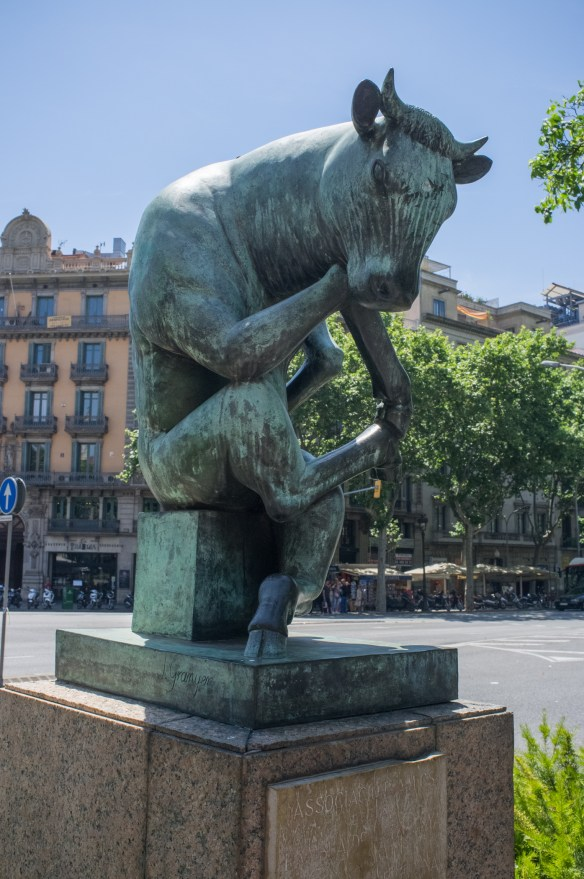Public art is everywhere in Barcelona.