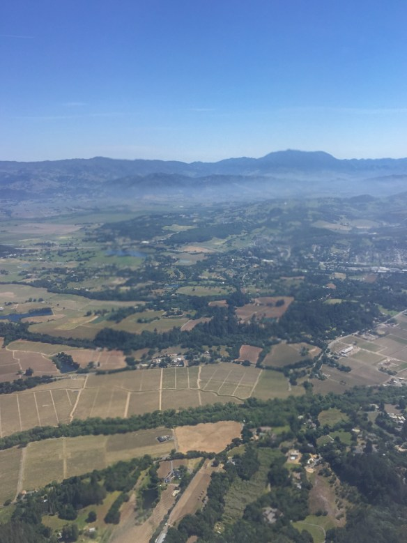 On approach to the Santa Rosa Airport on a typical Sonoma County day.
