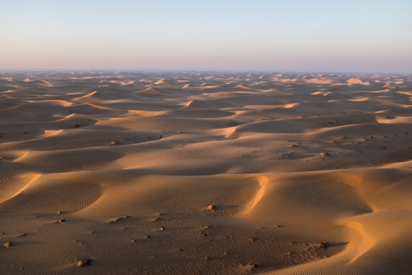 The Dubai Desert between the UAE and Saudi Arabia.