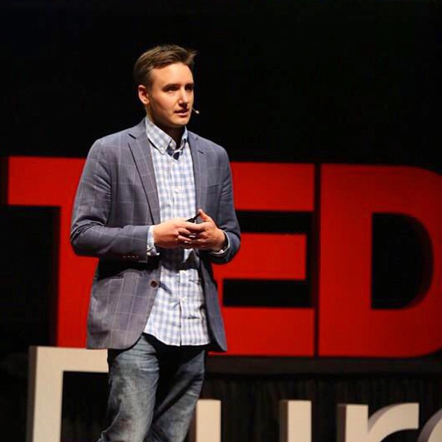 Frank Gruber speaking at TEDx Purdue