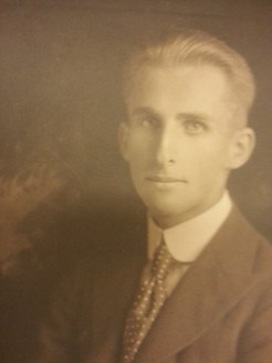 MSMC Archive photograph of Arthur D. Spearman 1918 in Hollywood. Photograph by Rosemary Irvine