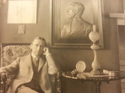 MSMC archive photograph of Frank H. Spearman in his home in Illinois (1912). Photograph by Rosemary Irvine