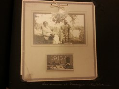 MSMC archive photograph of Mrs. Eugenie Spearman (left) and Mr. Frank H. Spearman (right) in Wiscon on vacation in 1915. Photograph by Rosemary Irvine