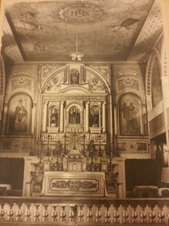 MSMC Archive photograph of original Santa Clarita Mission Altar. Photograph by Rosemary Irvine