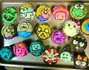 Adventure Time Inspired Cupcakes