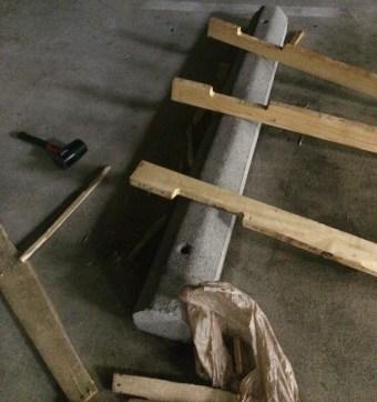 Taking it apart in my parking garage