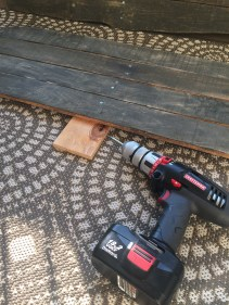 Drill the wood pieces