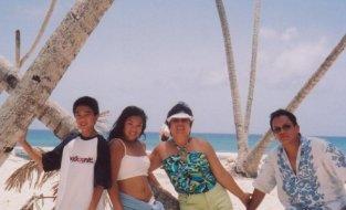 Blue Lagoon Island Family Pic