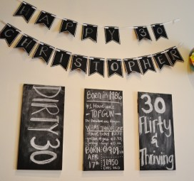 Chalk Board bday messages