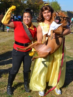 Beauty and the Beast and Gaston Trio Costume