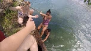 La Playa Negra Climbing the Old Barge