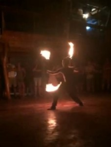 Fire Show at Lazy Mon
