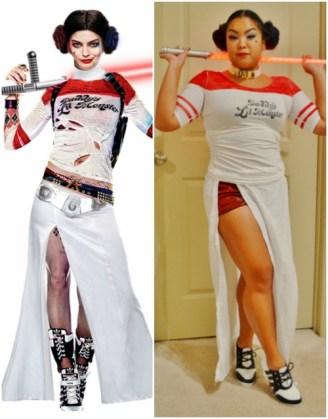 Harley Quinn and Princess Leia Costume Mashup