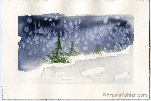 """Franki Kohler, Watercolor 1, 6"""" x 9"""""""
