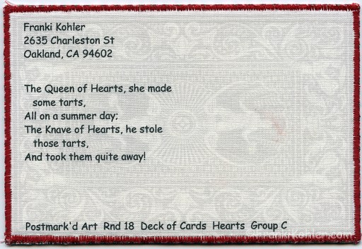 Franki Kohler, Jack of Hearts Address