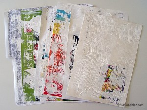 junk mail with gesso