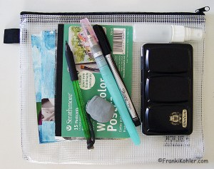 Sketch-watercolor Travel bag