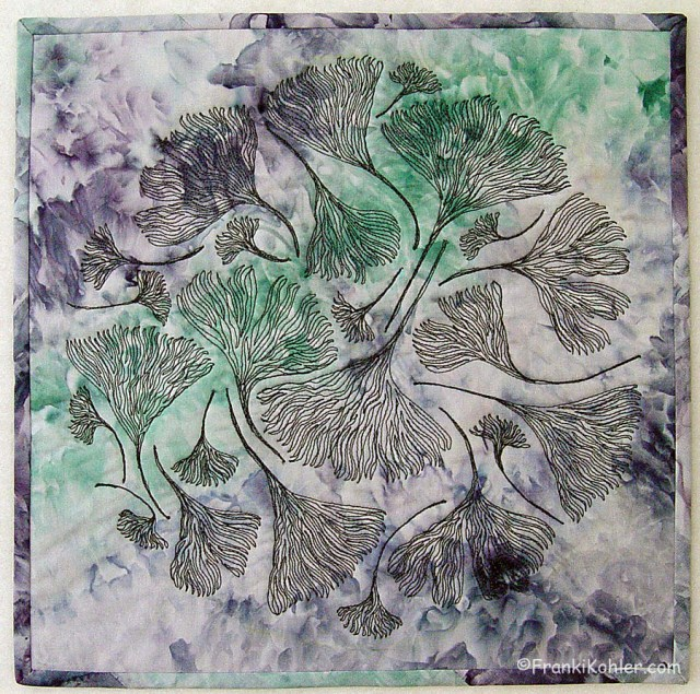 "Ginkgos in the Round, 12"" x 12"", 2014, For Sale"
