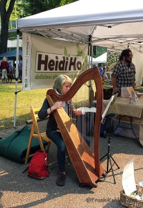 Farmer market Harpist