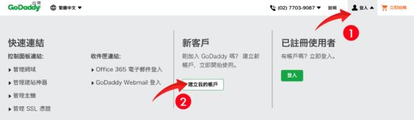 Godaddy-網址申請