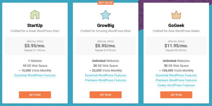 SiteGround教學 :虛擬主機方案