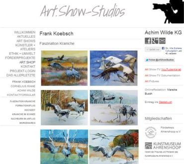Drucke meiner Kranich Aquarell beim art-show-verlag