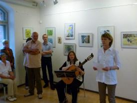 Eröffnung durch Frau Hamann und Gitarrenmusik von Frau Göritz (c) Frank Koebsch