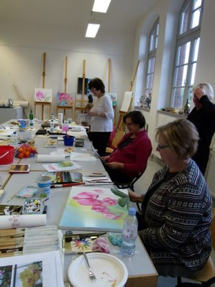 Workshop Aquarell auf Leinwand (c) Frank Koebsch (2)