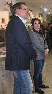 Galeristin Cindy Höppner und Frank Koebsch (c) Susanne Haun