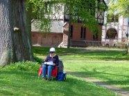 Malen beim Möckelhaus im Park des Doberaner Münsters (c) Frank Koebsch