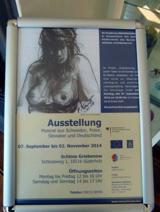 Ausstellung - Globalisierung positiv - im Schloss Gribenow