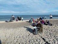 Sonne am Strand und die Kühlungsborner Silhouette auf dem Papier (c) Frank Koebsch (1)