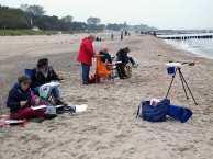 Wir malen Wellen, Buhnen und Strand (c) Frank Koebsch (1)