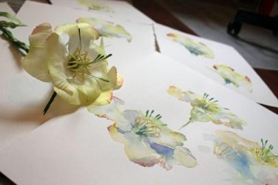 Die Kunstblume Lore und ihre Aquarelle von Hanka Koebsch (2)