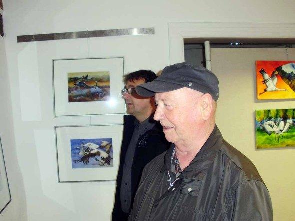 Horst Zettier in der Ausstellung von Hanka u Frank Koebsch (c) Sabine Prescher