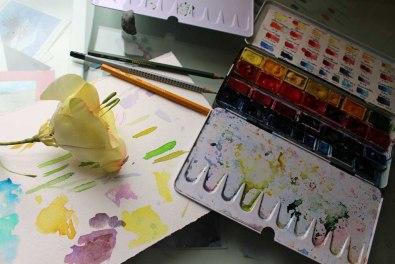 Werkzeug von Hanka Koebsch für die Aquarelle der Falschen Blume Lore (2)