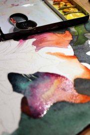Details der Blüte des Flussteufels enstehen mit Lasuren und Nass in Nass (c) Frank Koebsch (1)eufels enstehen mit Lasuren und Nass in Nass (c) Frank Koebsch (2)