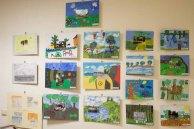 Teilnehmer der Altersgruppe von 9 bis 10 Jahren am Malwettbewerb - Unser Dorf (c) Frank Koebsch