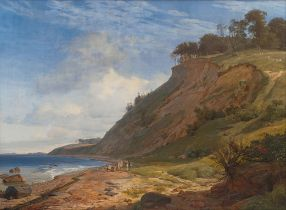 A Danish Coast. View from Kitnæs on Roskilde Fjord – Johan Thomas Lundbye - Public domain