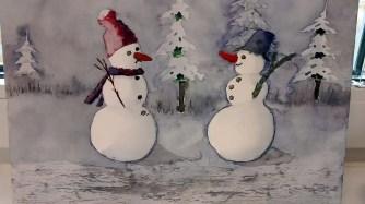 Lustige Schneemannbilder aus dem Aquarellkurs Weihnachtsaquarelle (c) Bernd Sturzrehm (5)