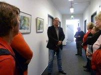 Frank Koebsch in der Ausstellung Wildes Land im Staatliches Amt für Landwirtschaft und Umwelt (c) Anke Streichert