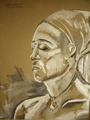 Portrait in Charcoal and Gesso