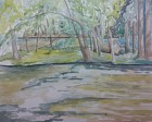 """""""On the Fox Rive, Waterford, WI,"""" Watercolor on Paper, $100"""