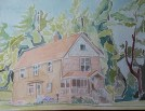 """SOLD - """"Bisher Home,"""" Watercolor on Paper"""