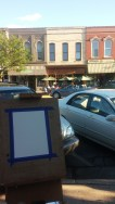 Setting up across from some great storefronts in Lake Genva