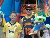Elliot, Robert and Mitchell Lim enjoys the amusement rides.