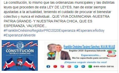 Mi mensaje por el Día de la Constitución Dominicana. Audio.Video