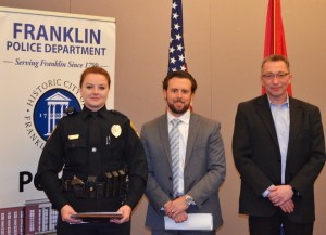 Officer Teeples, Kris Krabill (Toyota, Cool Springs), Leo Linkov (Franklin Chrysler, Dodge, Jeep, and Ram)