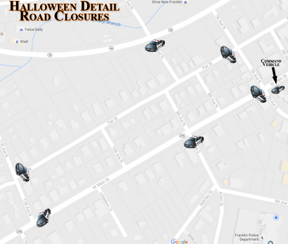 2016 Halloween Street Closures