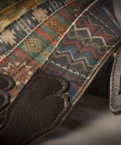 Old Aztec Canvas Guitar Strap